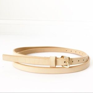 J. Crew • Italian Leather Skinny Belt